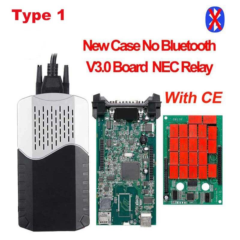 CDP TCS CDP Pro OBD2 Bluetooth R3 keygen,00 keygen для автомобилей/грузовиков OBD2 диагностический инструмент obd2 считыватель кодеров как MVD - Цвет: type1 New case no BT