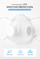 1/5 Set Reusable Mouth Mask Silicone Clear Breathing Face Mask With 10PCS Filters Dustproof Respirator Dropship Fast Ship TSLM1 2