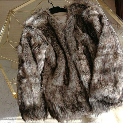 2020 New Style High-end Fashion Women Faux Fur Coat S113