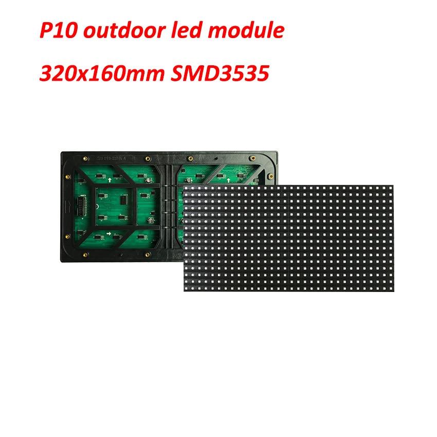 IP65 Waterproof 320MM*160MM P10 Outdoor Led Module 32*16 Pixel Led Panel 1/4 Scan Led Display Screen