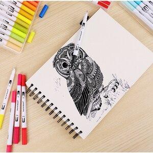 Image 4 - Drop Verschiffen 100 Farbe Marker Scan Marker Zeichnung Pinsel Stift Zeichnung Malerei Aquarell Marker Kunst Stifte Marker