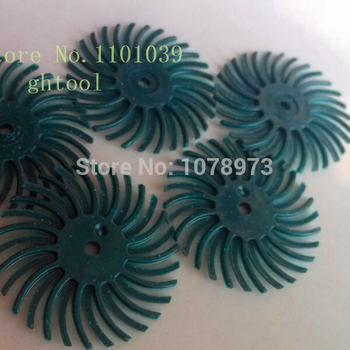 """Free Shipping Green Color Grain 80# 1"""" Jewelry 3M Bristle Brushes Radial Discs for Groove Polishing 500pcs/bag jewelery tools"""