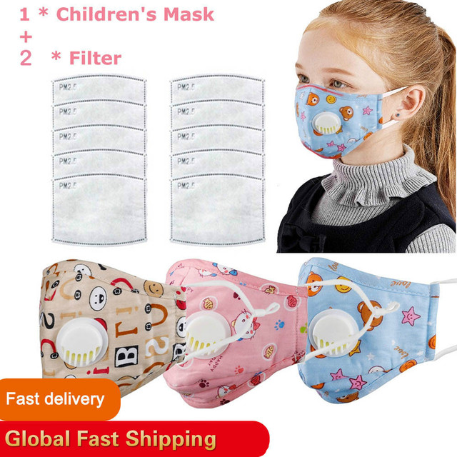 Children Face Mouth Mask 1Pcs Dust Reusable Breathable Protective Kid PM2.5 Mascherine Filter Mascaras Respirator Tapabocas