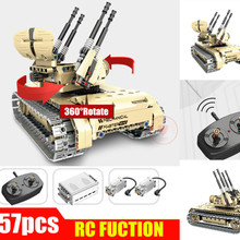 New Military Toys Series Remote Control RC Tank 360 Rotate Fit Legoings Technic Car Building Block Bricks Birthday Kid Gift