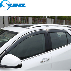 Image 3 - Seite Fenster Deflektoren Für Chevrolet EQUINOX 2017 2018 Fenster Visor Vent Shades Sonne Regen Deflektor Schutz SUNZ