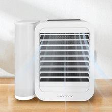 MICROHOO 6W 1000ml su kapasitesi Mini klima dokunmatik ekran 99-hız ayarı enerji tasarrufu zamanlama soğutma fanı