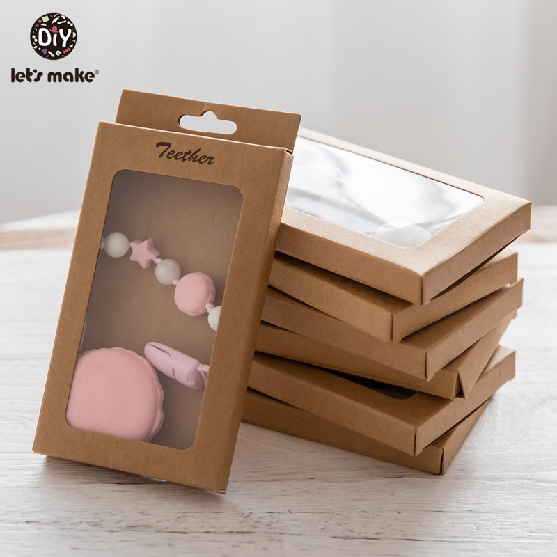 Let's Make Baby Gift/Merchandise/Packing Box 50pcs Kraft Paper Wedding Wrapping Jewelry Supply Nursuing Pendants Accessories Box