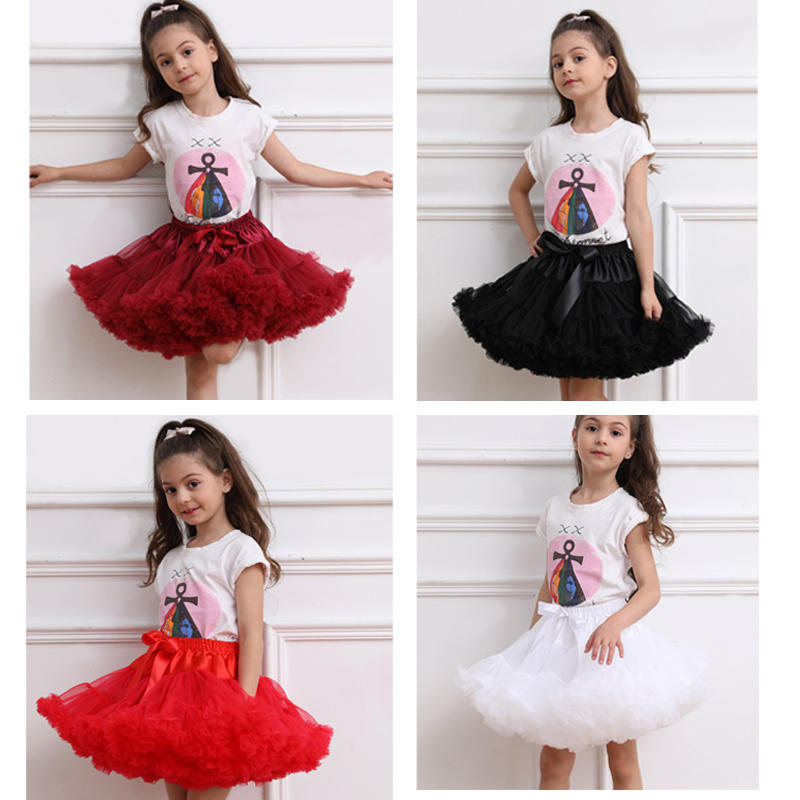 2020 Children Ballet Dress Kids Tutu Skirt Flower Girl Underskirt Stock Ball Gown Princess Party Dance Baby Tutu Skirt Dresses