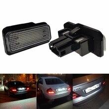 2PCS For Mercedes Benz W211 4D 5D W203 W211 W219  W219 R171 2D C Class S203 12V Car 18LED License Plate Light lamp Canbus