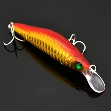 1pcs laser Fishing lure Minnow Crankbait ABS plastic floating Hard bait Freshwater Bass Wobblers 95 mm 10g BKK Hook