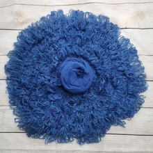 50cm Round Crocheted Blanket+160*40cm Modal Stretch Wrap for Newborn Photography Props