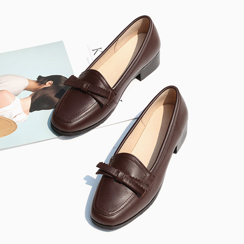 Women's Flats Oxford Shoes Woman Genuine Leather Sneakers Ladies Brogues Vintage Casual Oxfords Shoes For Women Footwear 2020