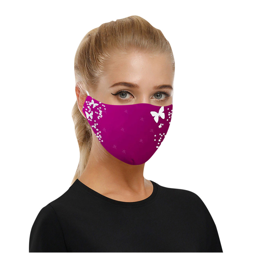 Flower Face Mask For Women Protective Anti Face Mouth Mask Washable Reusable Mouth Cover Fashion Fabric Masks Masker Maseczki