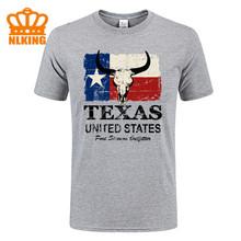 Tanie gorąca sprzedaż hurtowa podstawowe Retro lato styl bawełny z krótkim rękawem USA ameryka flaga teksasu mężczyzn t shirt tanie koszulki z okrągłym dekoltem #3 tanie tanio O-neck Topy Tees Suknem COTTON Tencel Inne Lyocell SILK CASHMERE Poliester Z wełny Włókno bambusowe Stretch Spandex