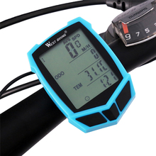 bicycle computer waterproof 20 functions speedometer odometer cycling luminous led wired / wireless mtb bike computer stopwatch sahoo 81488 multi functional wired water resistant stopwatch odometer blue white