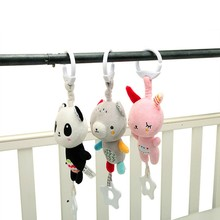 Baby Stroller Bed Rattles Children's Educational Toys Soft Doll Rattle Toy 0-12 Months Crib Plush Newborn Animal Hanging Rattles(China)