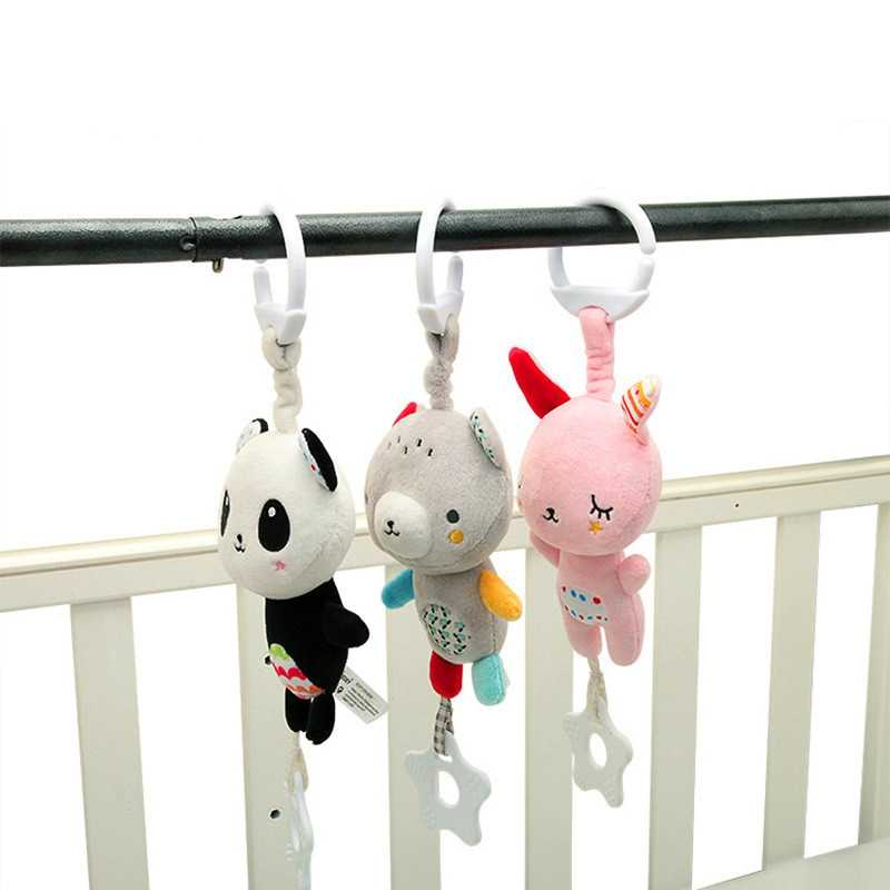 Baby Stroller Bed Rattles Children's Educational Toys Soft Doll Rattle Toy 0-12 Months Crib Plush Newborn Animal Hanging Rattles