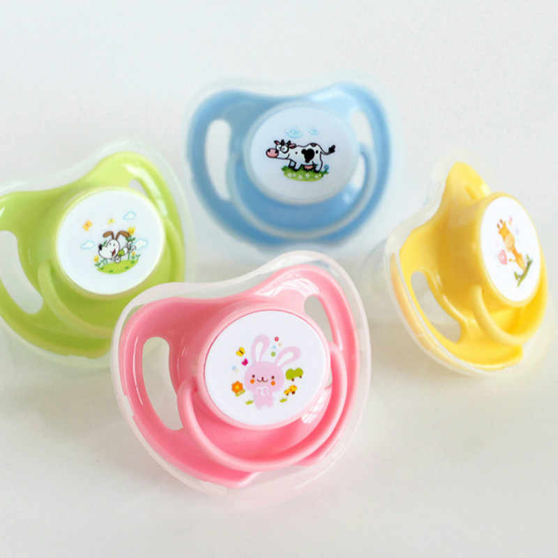 1pcs Cartoon Nipple Newborn Babys Nipple Pacifiers Baby Cartoon Sleeping Soft Silicone Pacifiers Pattern Random Kids Hot