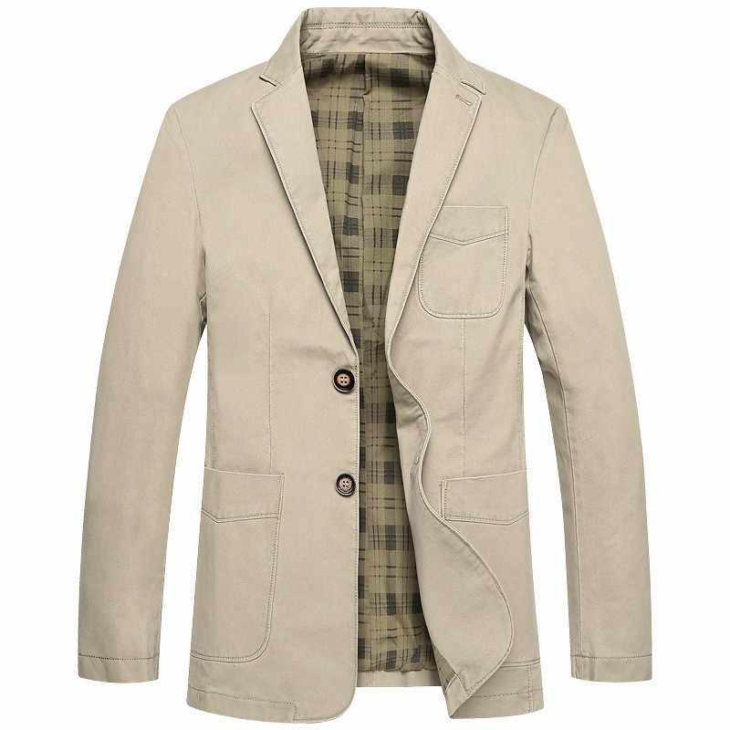 2020 nuevo Blazer para hombre de otoño moda coreana Chaqueta de traje ajustada Casual para hombre Blazer con bolsillo de talla grande M-4XL