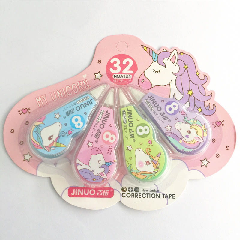4 Pcs/Set Cute Unicorn Correction Tape Stationery Correction Tools For Students Girls Gifts School Office Supplies 2019