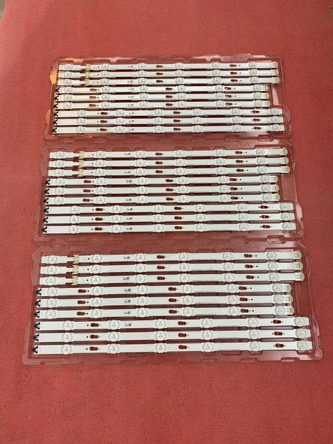 Nouveau 27 pièces/ensemble LED bande de rétro éclairage Pour Samsung UN75MU6300 UN75JU6500 V5DU 750DCA R1 750DCB 750DCC R1 BN96 34763A 34764A 34765A