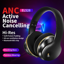 Wireless Headphone HiFi ANC Active Noise Cancelling Bluetooth V5.0 Headphone Over Ear Headset for Phone