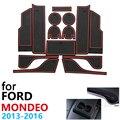 Anti Slip Gummi Tasse Kissen Tür Nut Matte für Ford Mondeo Fusion V MK5 5 2013 ~ 2016 2014 2015 14Pcs Zubehör matte für telefon-in Autoaufkleber aus Kraftfahrzeuge und Motorräder bei