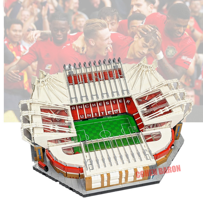 New 3908PCS Old Trafford Manchester Creator City Street View United Fit Legoings Building Blocks Bricks 10272 Toys Kids Gift