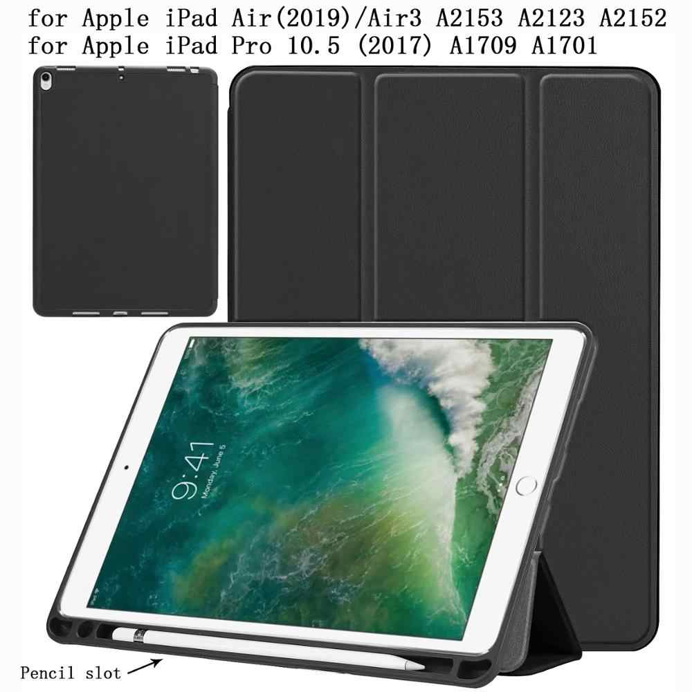 Tpu Pen Slot Tablet Case For Ipadpro Ipad Pro 10 5 10 5 2017 Air 3 2019 Air3 A2153 Case Pu Leather Smart Sleep Cover Stand Shell Tablets E Books Case Aliexpress