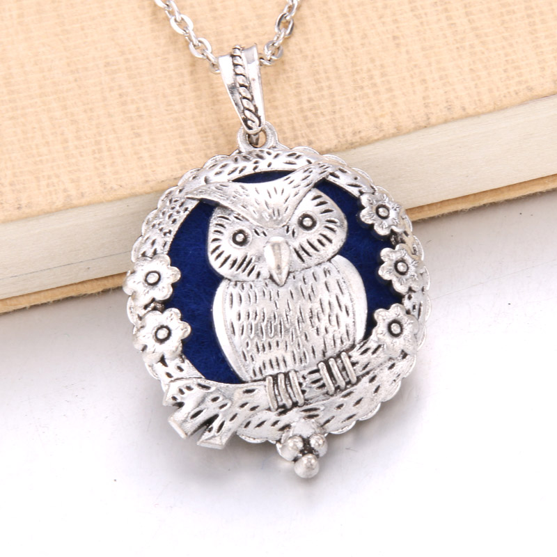 1 шт. аромадиффузор ожерелье Открытый Античный винтажный медальон кулон парфюм эфирное масло ароматерапия медальон ожерелье с подушечками - Окраска металла: N2241