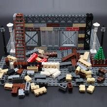 MOC şehir tesisi yapı DIY blok tuğla duvar tuğla Enlighten yapı taşları parçaları uyumlu Legoeds-oyuncaklar yaratıcı çocuk hediyeler