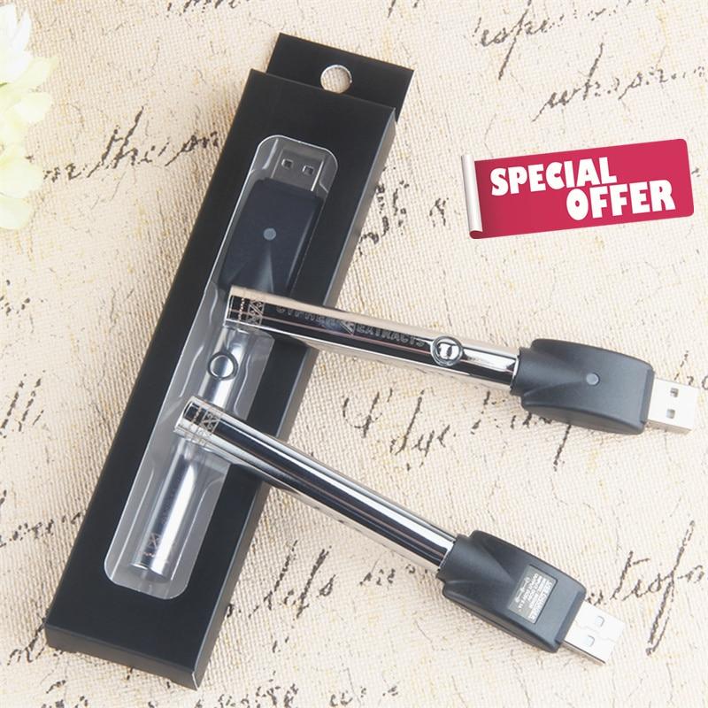 Kingfish E-SMART 380mAh Battery 510 Thread CBD Cartridge USB Charging Electronic Cigarette For CE3 Cbd Ceramic Atomizer Smok Pen