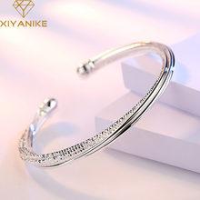 XIYANIKE 925 en argent Sterling bracelets de manchette de fête et Bracelet pour les femmes mode coréenne accessoires de mariage bijoux créatifs cadeaux