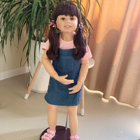 98cm 3 year old girl baby size simulation doll Full Body Silicone inteiro reborn toddler bonecas children's clothing model toy