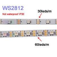 1 m/2 m/3 m/4 m/5 m WS2812B Smart pixel led streifen licht; 30/60/144 pixel/leds/m; WS2812 IC; IP30/IP65/IP67, DC5V led streifen band