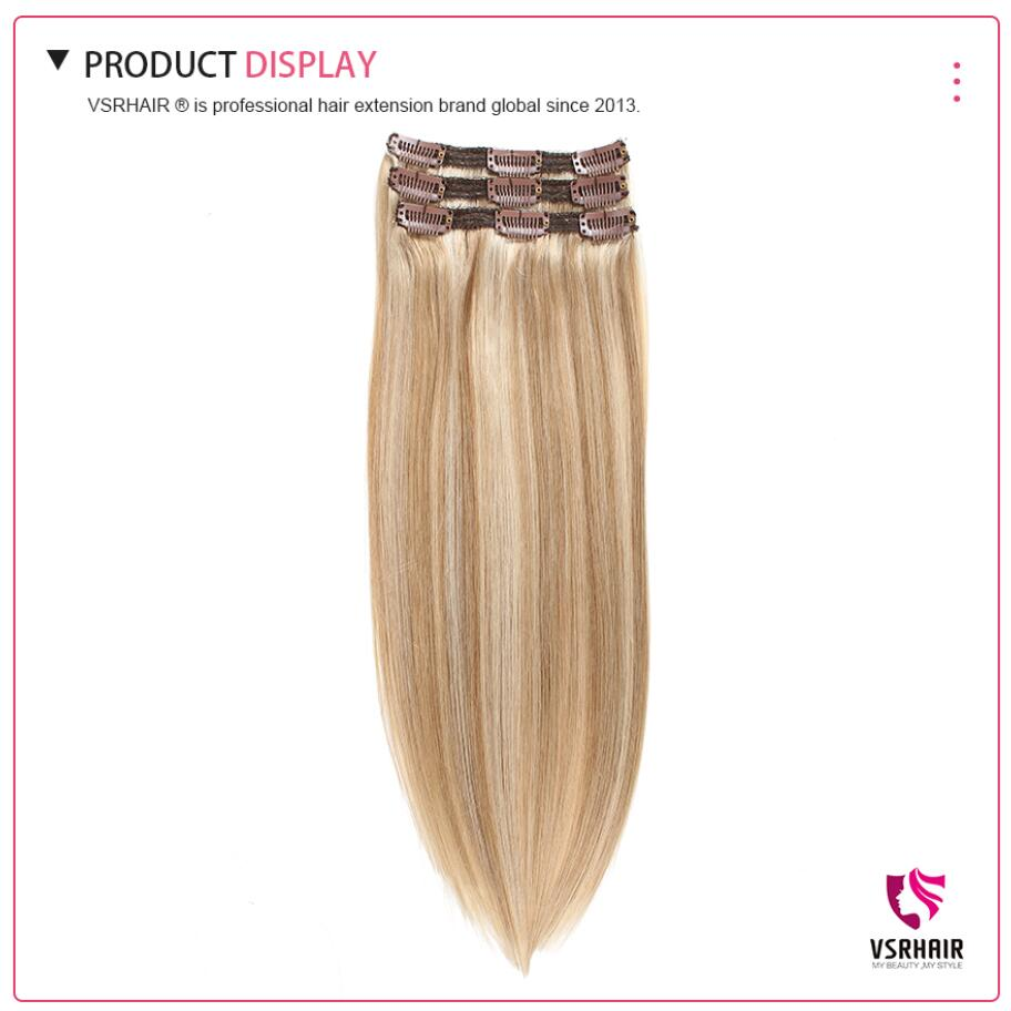 Image 2 - VSR Remy Extension Hair Human Clip In Hair Style 3pcs Machine Made Clip In Hair Extensions-in Clip-in Hair Extensions from Hair Extensions & Wigs