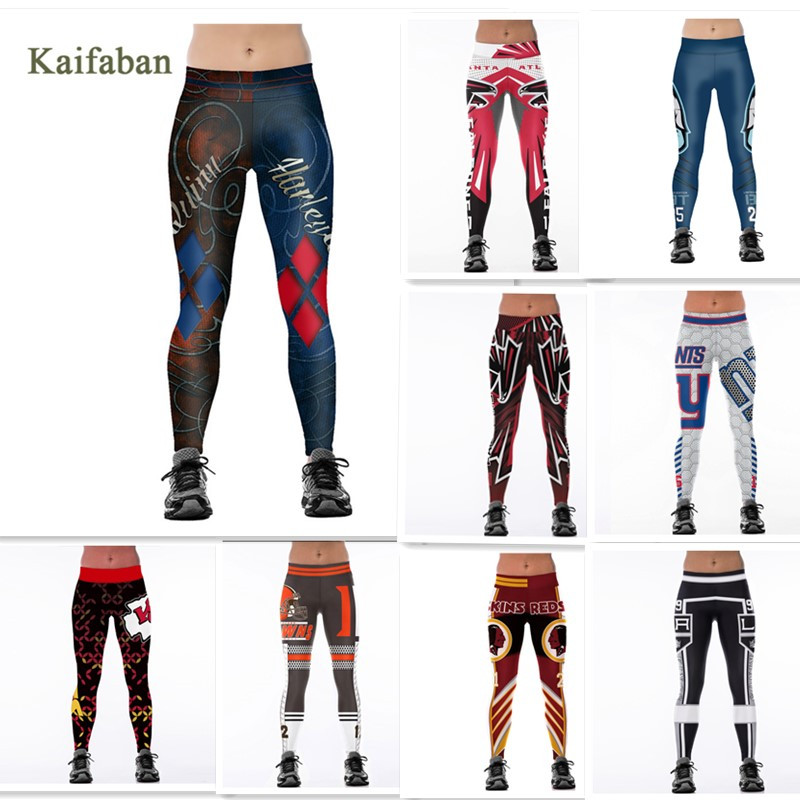 S-4XL Women Yoga Pants Team Leggings Fitness Harajuku 3D Printed Tights Plus Size 2019 Harley Quinn Gym Workout Run Sportswear