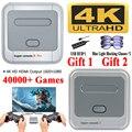 Супер консоль X Pro 4K HD Ретро игровая консоль для PSP/PS1/DC/N64, консоль для видеоигр с 50000 + играми, KODI, поддержка 4/2 игроков 4