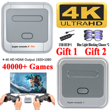 Super Console X Pro 4K HD Retro Game Console For PSP/PS1/DC/N64,Video Game Console With 50000+ Games,KODI,Support 4/2 Players 4
