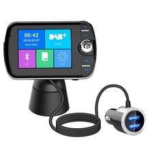 Беспроводной с bluetooth портативный автомобильный радио DAB ЖК-дисплей цифровой вещательный приемник с FM переходник передатчика USB зарядное устройство