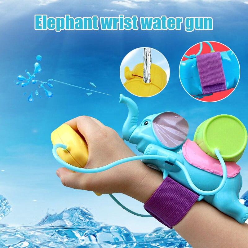 Kids Baby Bath Shower Toy Water Spray Elephant Design Bathroom Swimming Pool Beach Wrist Toy High Quality