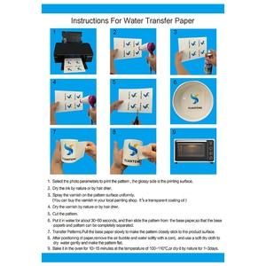 Image 3 - (20 גיליונות/הרבה) a4 גודל הזרקת דיו מגלשת מים מדבקות העברת נייר לבן רקע העברת נייר מגלשת מים מדבקות PrintingPaper