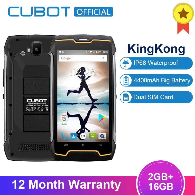 Cubot KingKong IP68 Waterproof Dustproof Shockproof MT6580 Quad Core 4400mAh 5.0