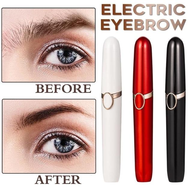 1PC Electric Eyebrow Trimmer Pen Shape Face Eyebrow Hair Remover Mini Eyebrow Shaver Razor Instant Painless Portable Epilator 1