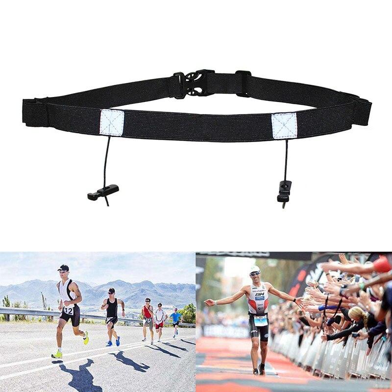 Unisex Triathlon Marathon Race Number Belt With Gel Holder Running Belt Cloth Belt Motor Running Outdoor Sports