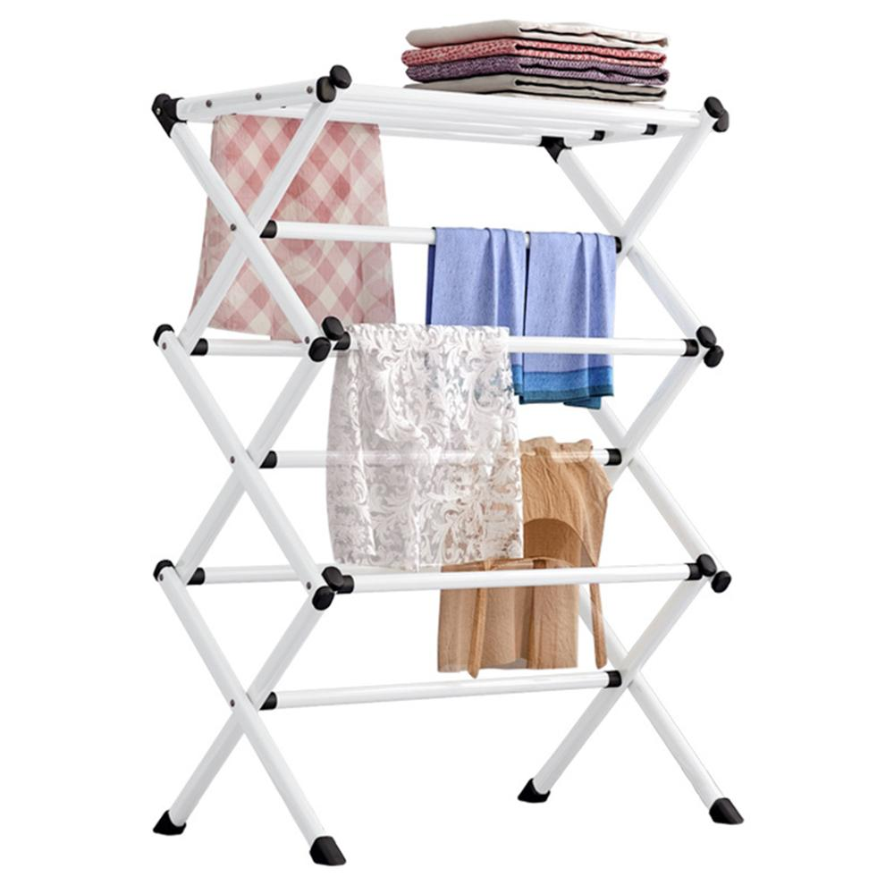 Towel Clothes Airer 3Tier Laundry Dryer Winged Washing Horse Dryer Rack Outdoor