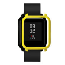 Fast delivery Screen Protector Slim Colorful Frame PC Case Cover Protect Shell For Huami Amazfit Bip Younth Watch with Screen(China)