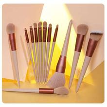 Profesjonalny zestaw pędzelków do makijażu Beauty Powder pędzel do różu fundacja korektor produkt do konturowania pędzel łatwe do czyszczenia pędzle do makijażu tanie tanio Jedna jednostka CN (pochodzenie) Włókno wełniane 13pcs set MZ280108 RÓŻ DO POLICZKÓW Cień do powiek EYELINER podkład