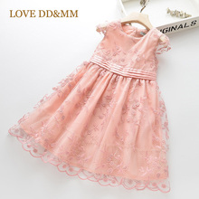 LOVE DD&MM Girls Dresses 2020 Summer New Childrens Wear Girls  Mesh Sweet Flower Princess Dress