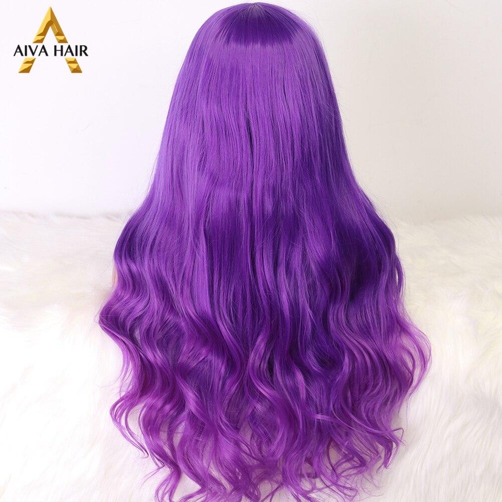 Aiva cabelo ombre rosa peruca sintética resistente